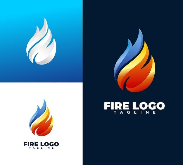 Luksusowe i nowoczesne logo ognia