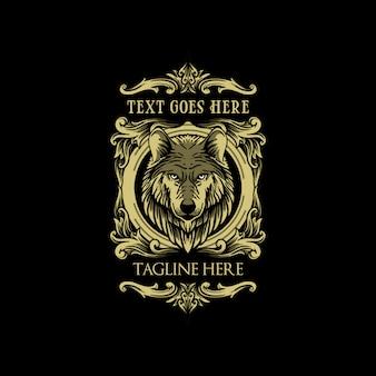 Luksusowe klasyczne logo wilka