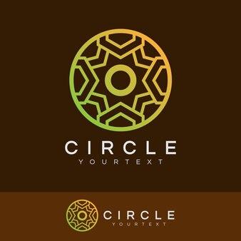 Luksusowe koło początkowe list o logo design