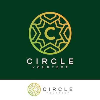 Luksusowe koło początkowe litera c logo projektu