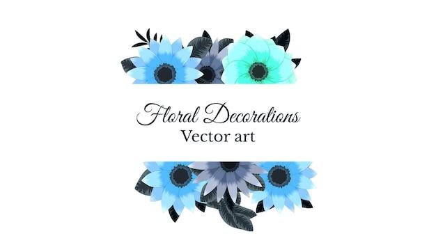 Luksusowe kolorowe kwieciste ramki tło z etykietą vintage vector illistration