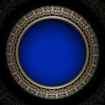 Luksusowe królewskie złote i niebieskie tło