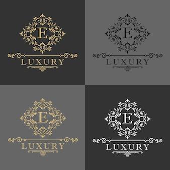 Luksusowe logo, hotel butikowy, logo króla i królewskiej ikony.
