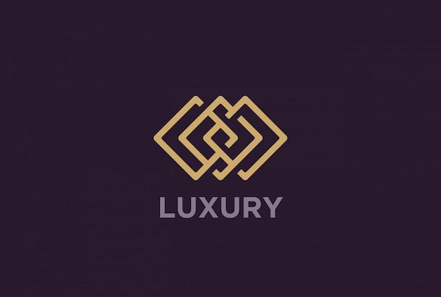 Luksusowe logo infinity.