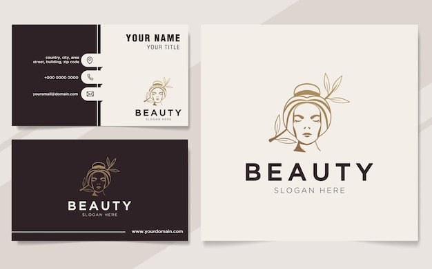 Luksusowe logo kobiet i szablon wizytówki