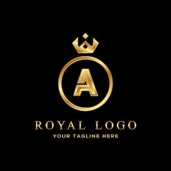 Luksusowe logo letter a. królewskie logo.