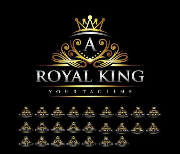 Luksusowe logo litery korony