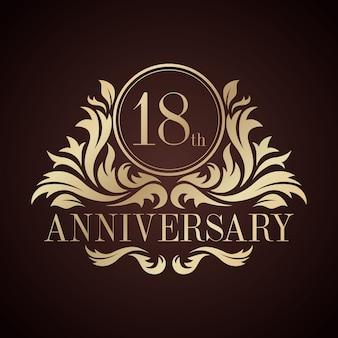 Luksusowe logo na 18 rocznicę