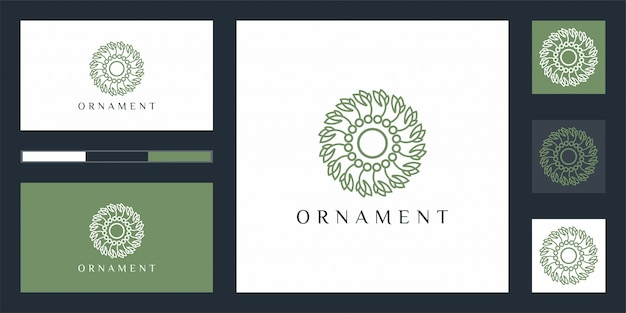 Luksusowe logo projektu ornamentu, które inspiruje.