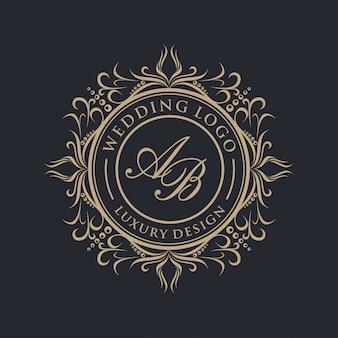 Luksusowe logo ślubne