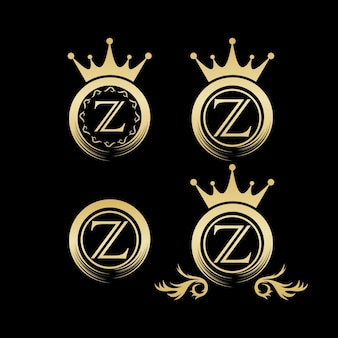 Luksusowe logo, szablon, ilustracja