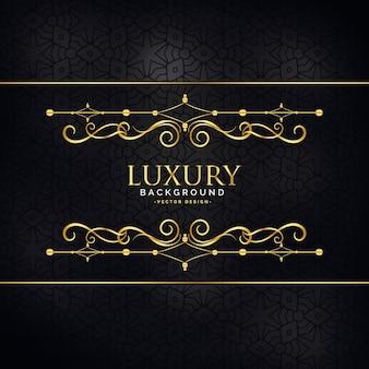 Luksusowe luksusowe tło zaproszenie ze złotym dekoracji