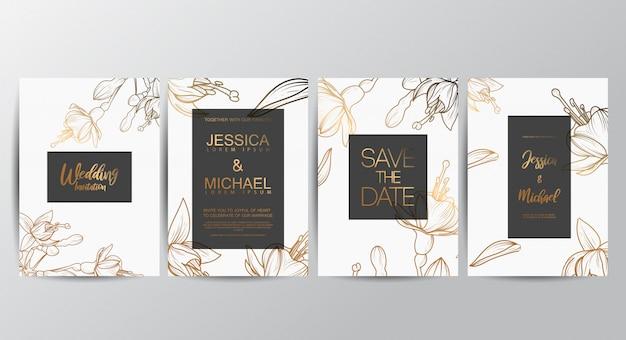 Luksusowe luksusowe zaproszenia ślubne