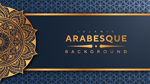 Luksusowe mandali islamskiej transparent tło