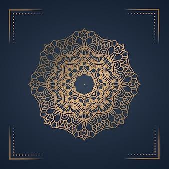 Luksusowe mandali tło na okładkę książki