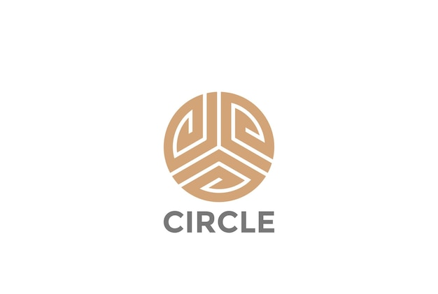 Luksusowe, modne logo nieskończoności loop gold circle.