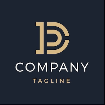Luksusowe monogram litery d logo