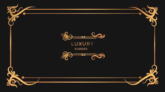 Luksusowe nowoczesne ozdoby w stylu ramki z kwiatowym wzorem