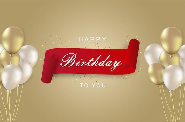 Luksusowe obchody urodzin z realistycznym balonem.