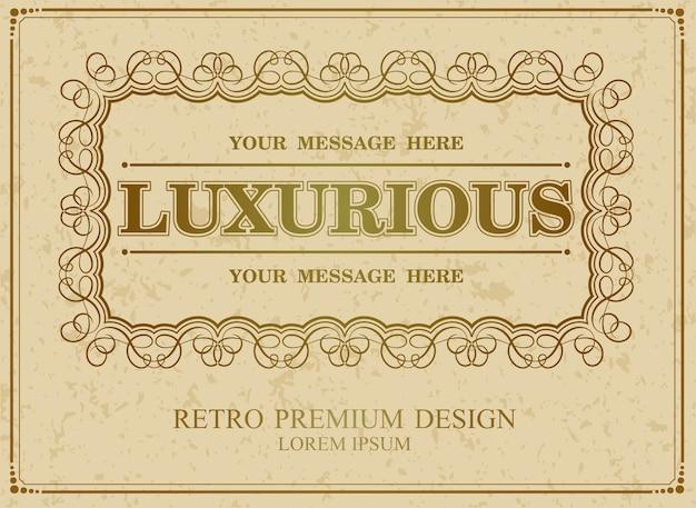 Luksusowe obramowanie kaligraficzne,