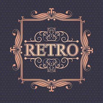 Luksusowe obramowanie retro