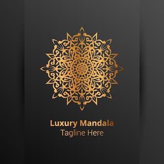 Luksusowe ozdobne logo mandali w stylu arabeski