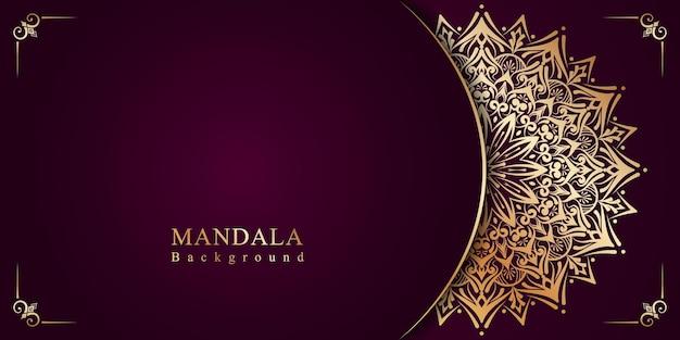 Luksusowe ozdobne mandala arabeska islamskie tło na festiwal milad un nabi