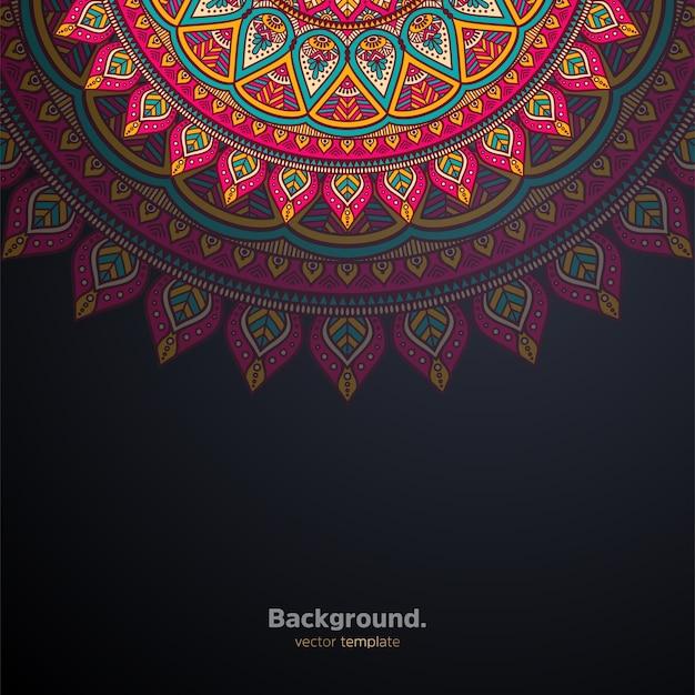Luksusowe ozdobne mandali projekt tło kolorowe