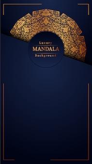 Luksusowe ozdobne mandali wzór tła w kolorze złota, luksusowe mandali tło na zaproszenie na ślub, okładka książki.