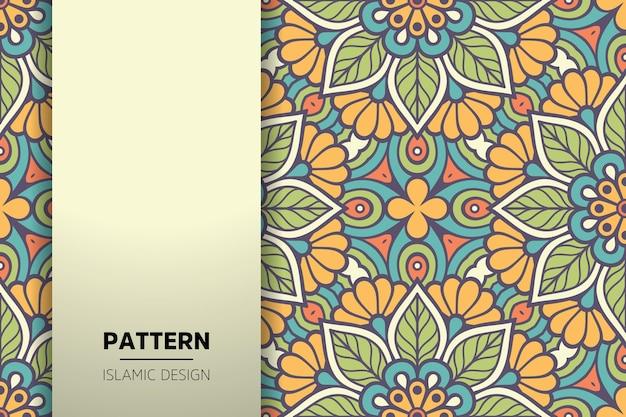 Luksusowe ozdobne tło mandali w kolorze złotym