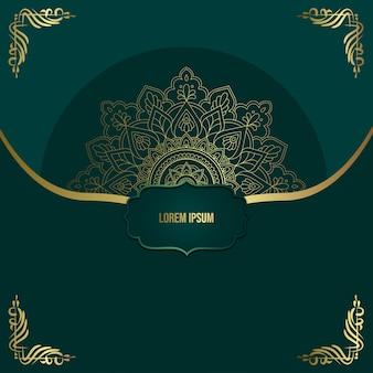 Luksusowe ozdobne tło mandali z arabskim islamskim wzorem wschodnim