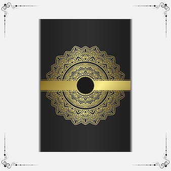 Luksusowe ozdobne tło mandali z arabskim islamskim wzorem wschodu premium wektorów