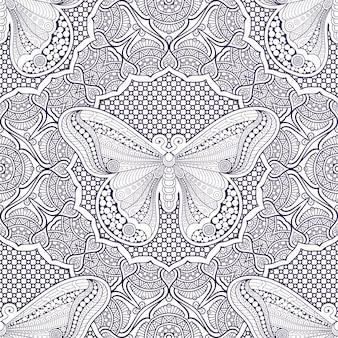 Luksusowe ozdobne tło mandali
