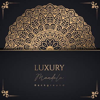 Luksusowe ozdobne tło wzór mandali za darmo