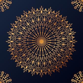 Luksusowe ozdobne tło wzór mandali