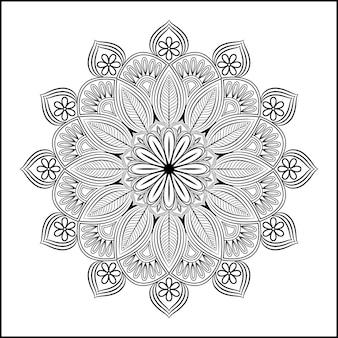 Luksusowe ozdobne tło z efektem mandali w kolorze złotym vector