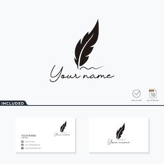 Luksusowe pióro logo