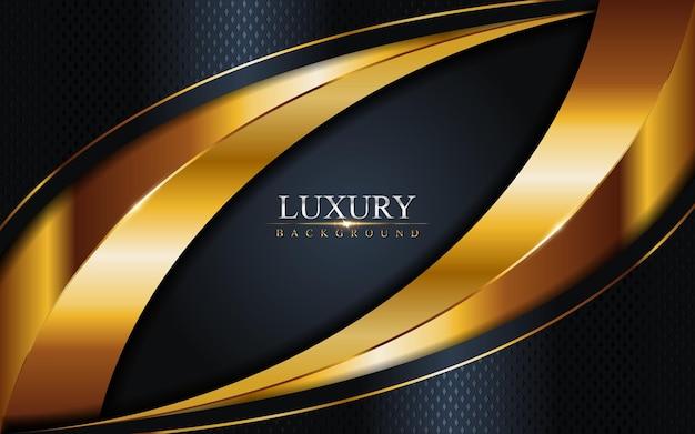 Luksusowe połączenie ciemnej marynarki wojennej z tłem złotych linii. element graficzny.