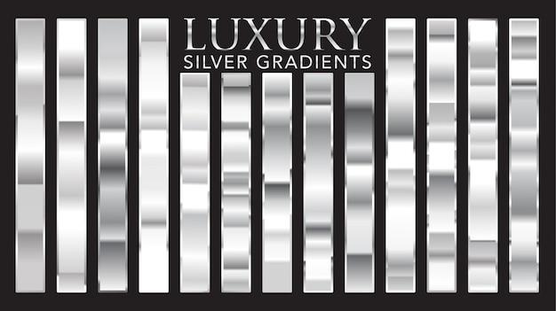 Luksusowe srebrne gradienty