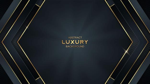 Luksusowe streszczenie tło gier wektor ze złotymi liniami i miejsca kopiowania tekstu