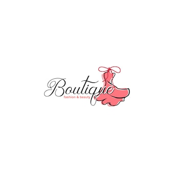 Luksusowe szablony logo boutique
