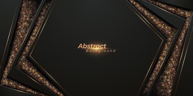 Luksusowe tło 3d z błyszczącymi złotymi paskami i złotym połyskiem.