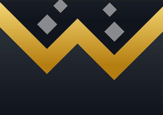 Luksusowe tło korporacyjne, abstrakcyjna dekoracja, złoty wzór, gradienty półtonów, 3d ilustracji wektorowych. szablon okładki z czarnego złota, geometryczne kształty, nowoczesny minimalistyczny baner biznesowy