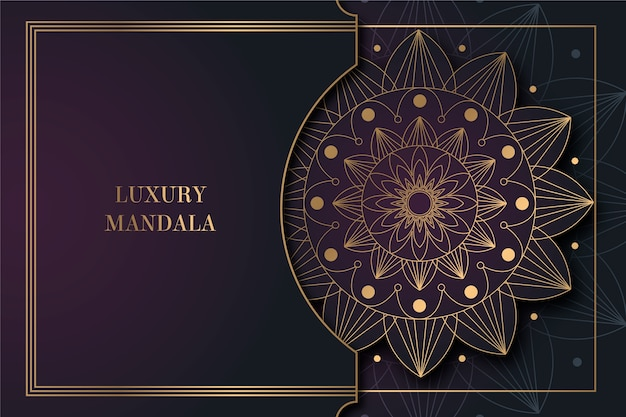 Luksusowe tło mandali