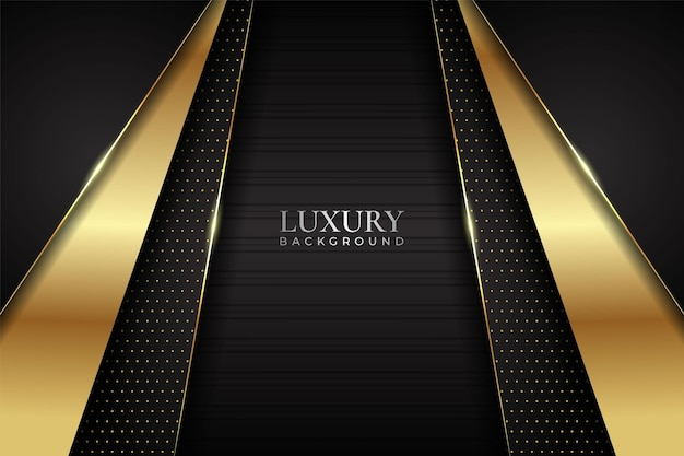 Luksusowe tło nowoczesne minimalistyczne ciemne z błyszczącym złotym efektem