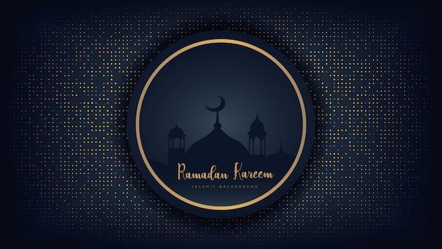 Luksusowe tło ramadan kareem.