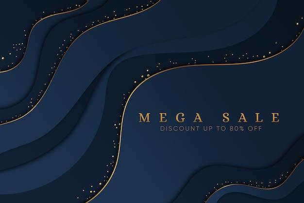 Luksusowe tło sprzedaży ze złotymi detalami