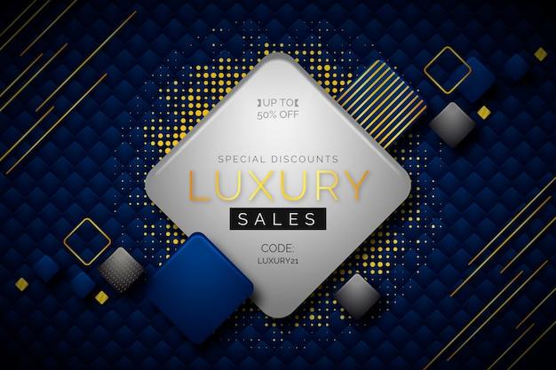Luksusowe tło sprzedaży