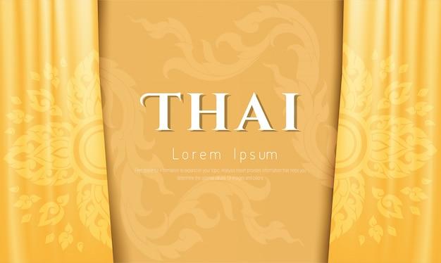 Luksusowe tło, tajska tradycyjna koncepcja.