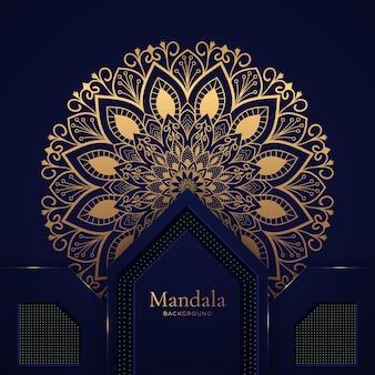 Luksusowe tło wektor mandali